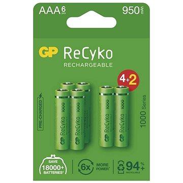GP ReCyko 1000 AAA (HR03), 6 ks - Nabíjecí baterie