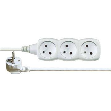 Emos prodlužovací 250V, 3x zásuvka, 5m bílý - Prodlužovací kabel