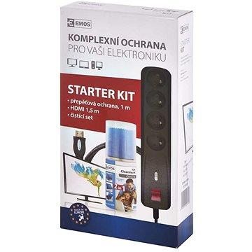 EMOS Starter kit  – přepěťová ochrana, čistící set, HDMI 1.4 - Přepěťová ochrana