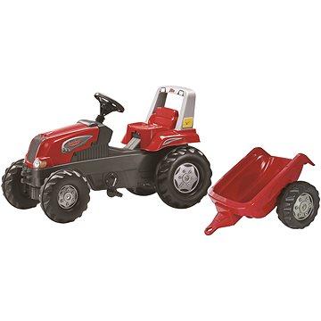 Rolly Toys Šlapací traktor Rolly Junior s vlečkou červený - Šlapací traktor
