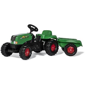 Rolly Toys Šlapací traktor Rolly Kid s vlečkou zeleno-červený - Šlapací traktor