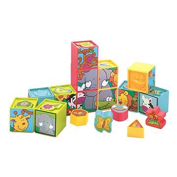 Vkládačka - Kostky v krabici - Stavebnice