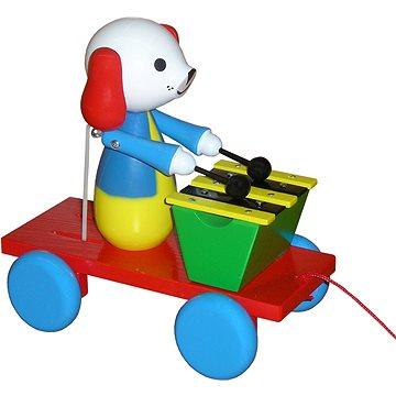 Tahací pes s xylofonem - Tahací hračka