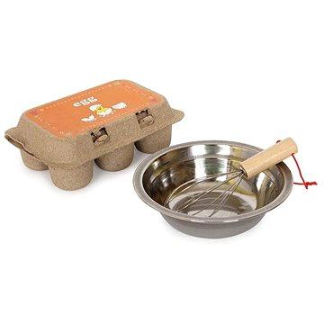 Dřevěné potraviny - Sada vajíček odklopitelná - Dětské nádobí