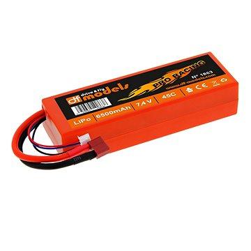 DF Models LiPo Aku 7,4V/6500mAh 45C Pro Racing T-Plug - Náhradní akumulátor