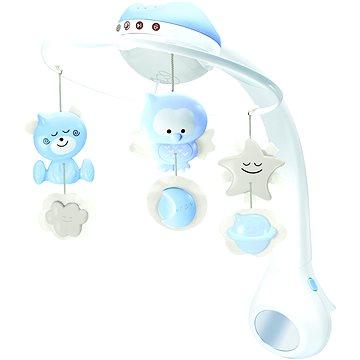 Hudební kolotoč s projekcí 3v1 modrý - Kolotoč nad postýlku