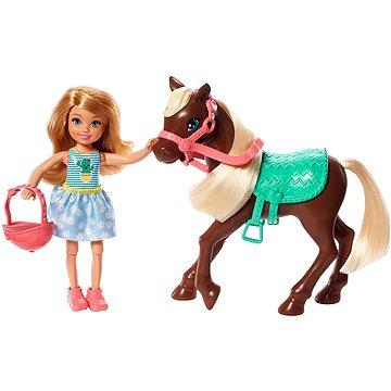 Barbie Chelsea a poník - Panenka