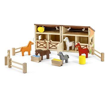 Dřevěná stáj - Dřevěná hračka