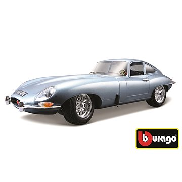 Bburago Jaguar E Coupe Metalic Silver Blue - Model auta