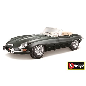 Bburago Jaguar E Cabriolet (1961) Green - Model auta