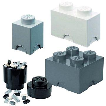 LEGO úložné boxy Multi-Pack 4 ks - černá, bílá, šedá - Úložný box