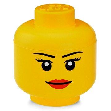 LEGO úložná hlava (mini) - dívka - Úložný box