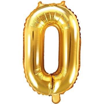 """Foliový balónek, 35cm, číslice """"0"""", zlatý - Balonky"""