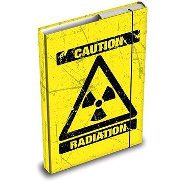 Desky na sešity MFP box A5 Caution - Školní desky