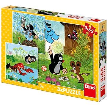 Krteček A Kalhotky 3X55 Puzzle Nové - Puzzle