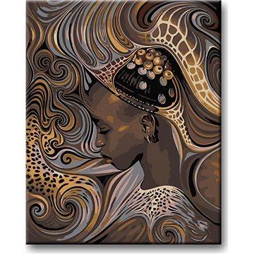 Malování podle čísel - Africká domorodá dívka 80x100 cm vypnuté plátno na rám - Malování podle čísel