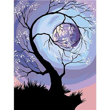 Malování podle čísel - Strom v úplňkové moci 60x80 cm vypnuté plátno na rám - Malování podle čísel