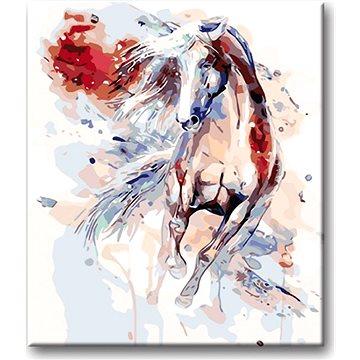 Malování podle čísel - Abstraktní kůň červený 40x50 cm vypnuté plátno na rám - Malování podle čísel