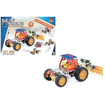 Malý mechanik - traktor s příslušenstvím 4 v 1, 161 ks - Stavebnice
