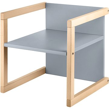 Wood Partner Dětská židle WENDY 3v1 Barva: lak/šedá - Dětská židle