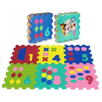 Puzzle pěnové 6 ks - čísla a tvary - Pěnové puzzle