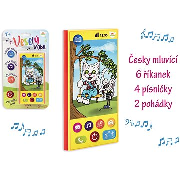 Teddies Veselý Mobil Telefon česky mluvící - Vkládačka