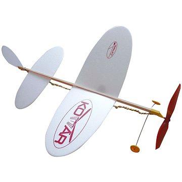 Letadlo Komár házecí model na gumu - Házedlo