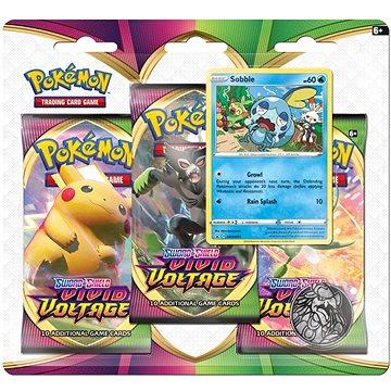 Pokémon TCG: SWSH04 Vivid Voltage - 3 Blister Booster - Karetní hra
