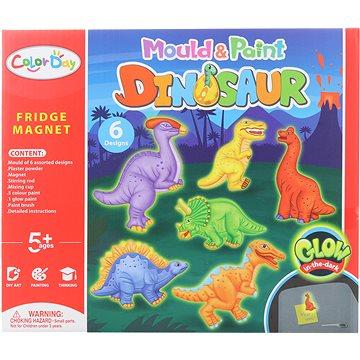 Výroba magnetů - dinosauři svítící - Kreativní hračka