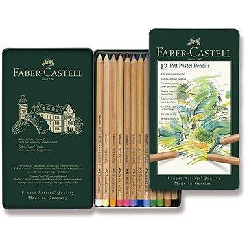 Pastelky Faber-Castell Pitt Pastell v plechové krabičce, 12 barev - Pastelky
