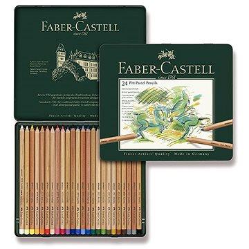 Pastelky Faber-Castell Pitt Pastell v plechové krabičce, 24 barev - Pastelky