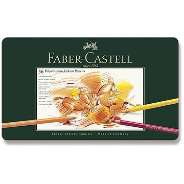 Pastelky Faber-Castell Polychromos v plechové krabičce, 36 barev - Pastelky