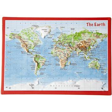 Svět reliéfní 3D plastická mapa 10,5x14,8cm - Mapa