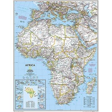 Afrika politická Classic Medium 118x91cm lamino, plastové lišty nástěnná mapa - Mapa