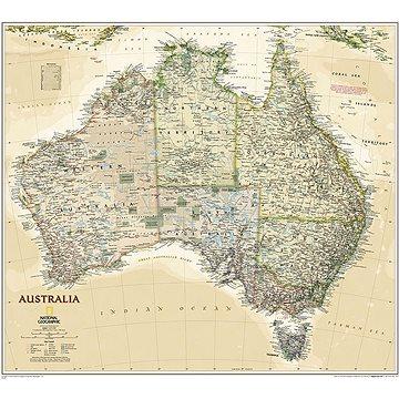 Austrálie politická Executive 77x60cm lamino, lišty nástěnná mapa - Mapa