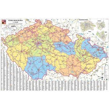 Česká republika železniční 93x173cm lamino, lišty nástěnná mapa - Mapa