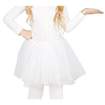 Dětská Bílá Sukně Tutu - 31cm - Doplněk ke kostýmu