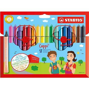 STABILO Cappi 18 ks pouzdro - Fixy