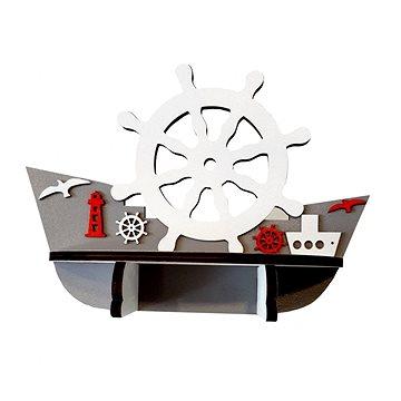 Polička - lodička/5 - Dětský nábytek