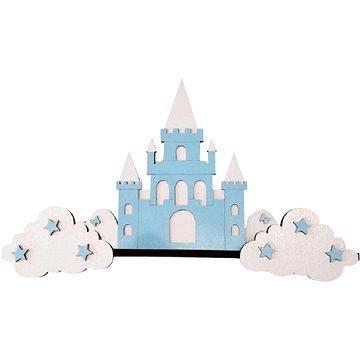 Polička - hrad/modrý - Dětský nábytek