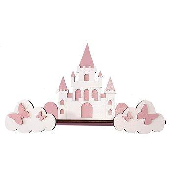 Polička - hrad/růžový - Dětský nábytek