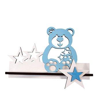 Polička - méďa/modrý - Dětský nábytek