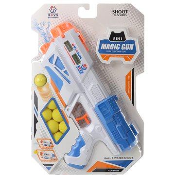 Pistole na vodu a pěnové kuličky - Dětská zbraň