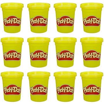 Play-Doh balení 12 ks kelímků žlutá - Modelovací hmota