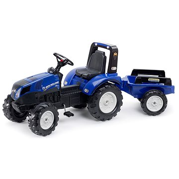 Traktor šlapací New Holland T8 modrý s valníkem - Šlapací traktor