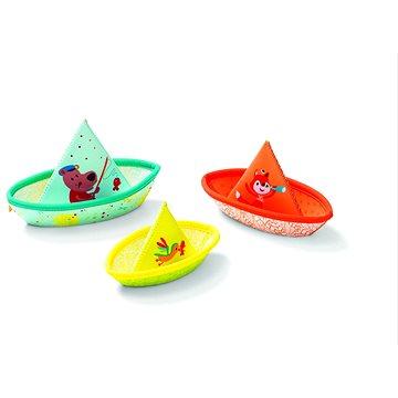 Lilliputiens - 3 plovoucí lodičky - hračka do vody - Hračka do vody