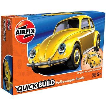 Quick Build auto J6023 - VW Beetle - žlutá - Model auta