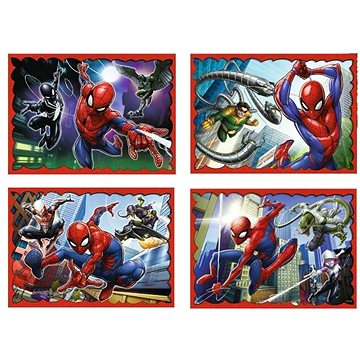 Trefl Puzzle Spiderman: V pavoučí síti 4v1 (35,48,54,70 dílků) - Puzzle
