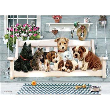 Cobble Hill Rodinné puzzle Štěňata na houpačce 350 dílků - Puzzle