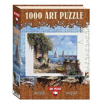 Art Dřevěné puzzle Terasa u moře 1000 dílků - Puzzle